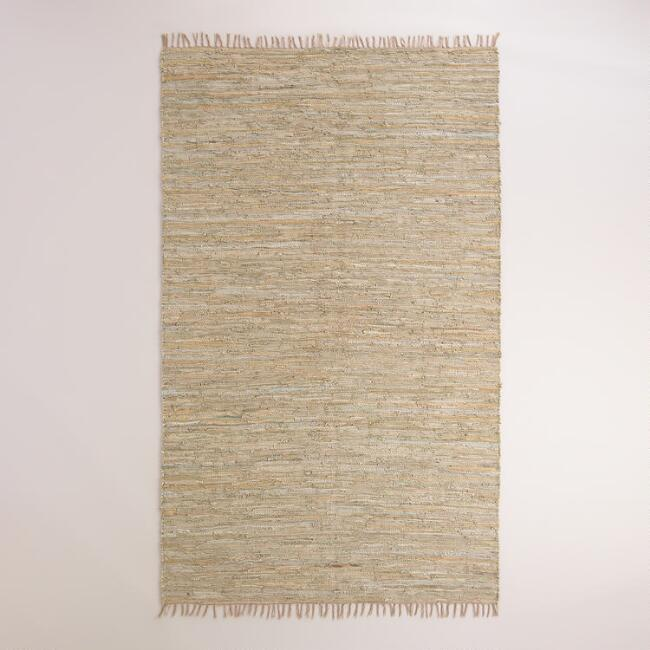 Recycled Leather Chindi Anders Area Rug