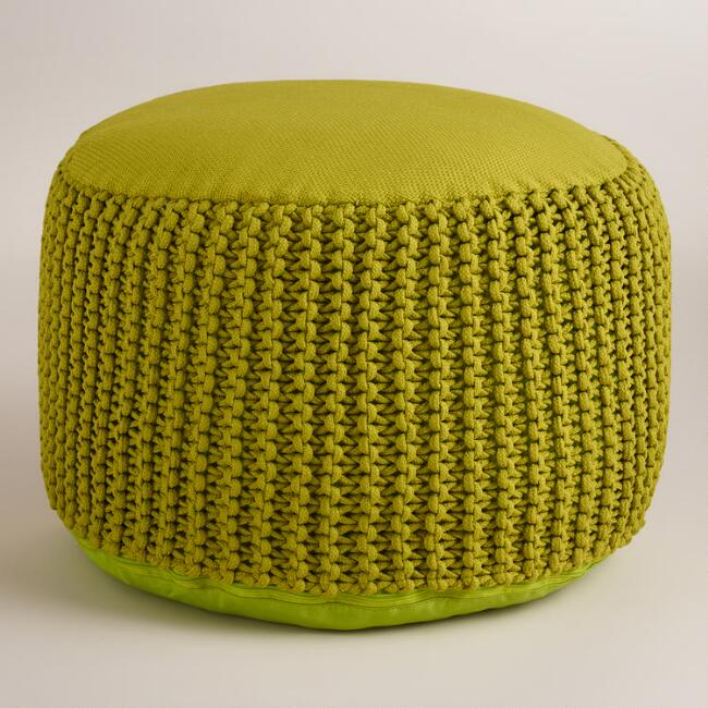 Green Indoor - Outdoor Pouf