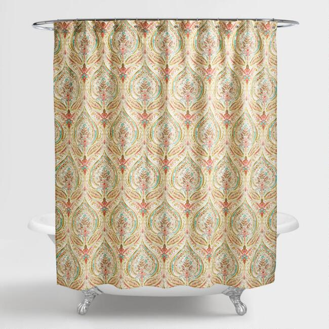 - Watercolor Ogee Shower Curtain World Market