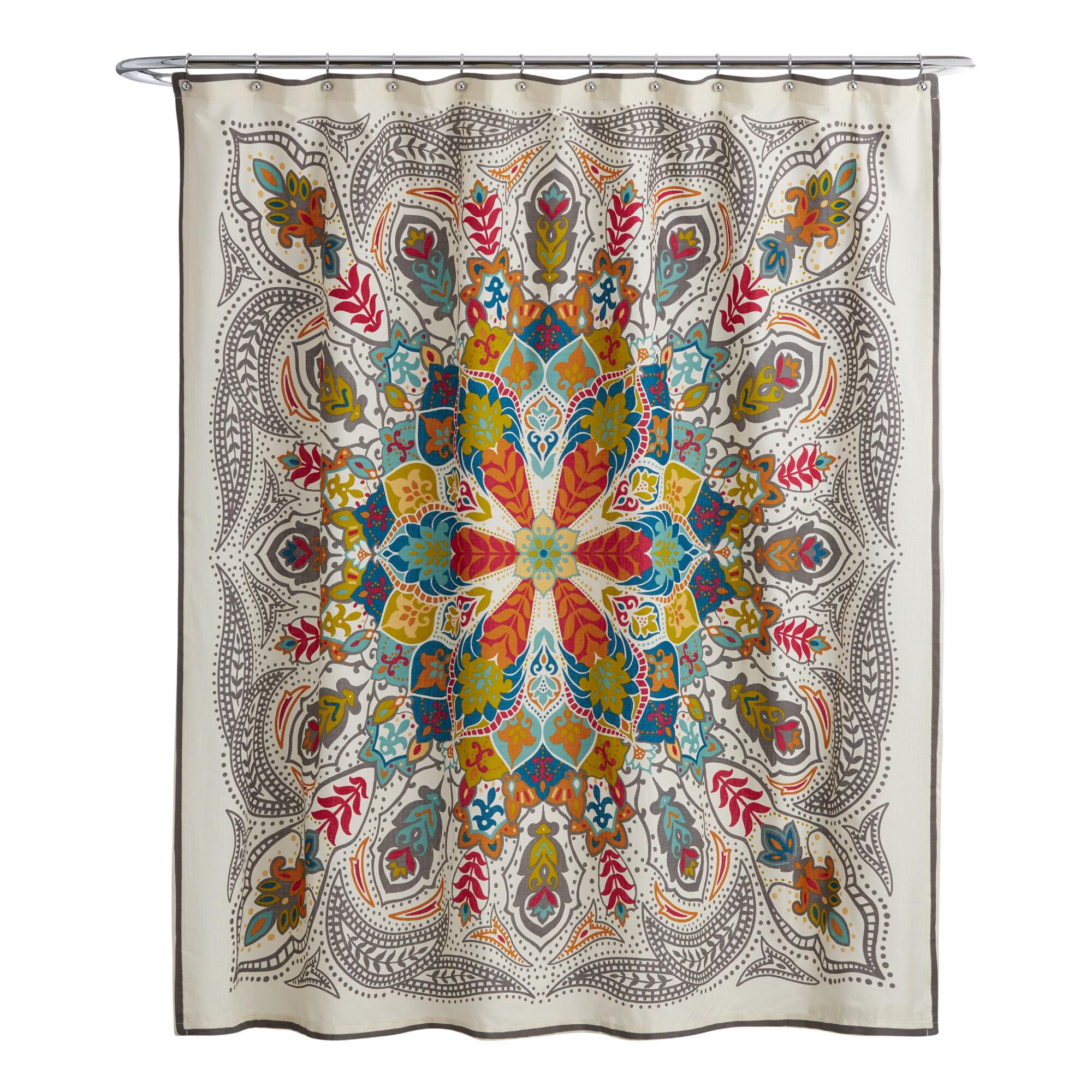 Andana Medallion Shower Curtain | World Market