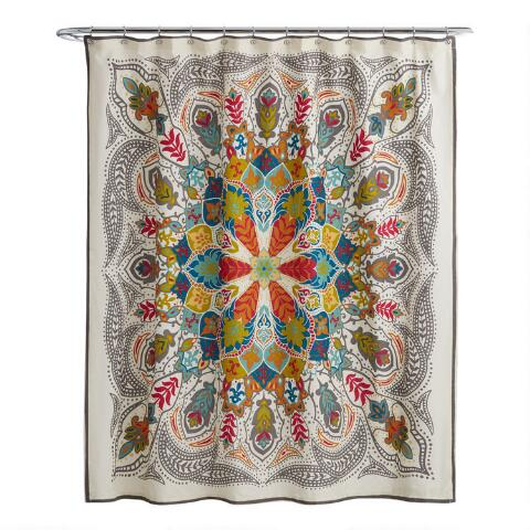 Andana Medallion Shower Curtain Previous V2 V1