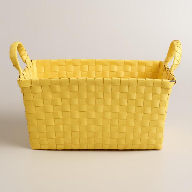Cornsilk Yellow Shower Caddy