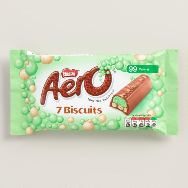 Nestle Aero Peppermint Milk Chocolate Biscuit Bars, 7-Pack