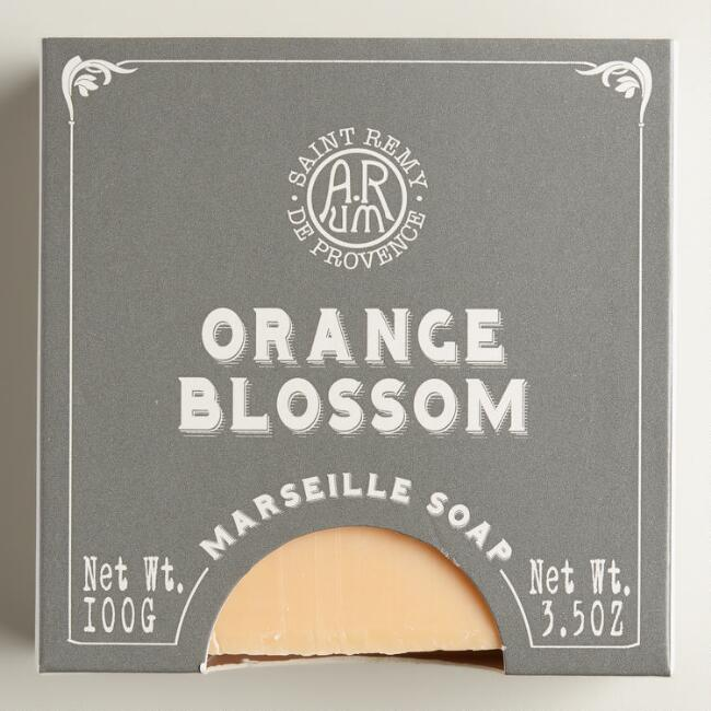 French Boxed Orange Blossom Bar Soaps, Set of 2