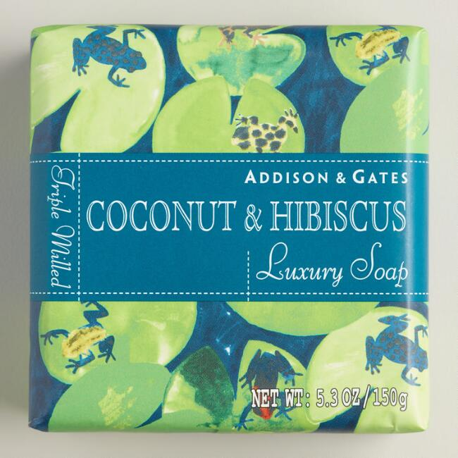 A&G Fiji Coconut & Hibiscus Bar Soaps Set of 2
