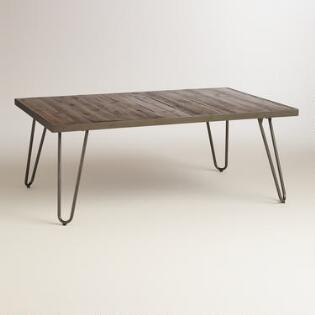 Rectangular Wood Hairpin Coffee Table. Furniture Sale   World Market