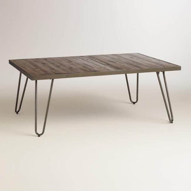 Rectangular Wood Hairpin Coffee Table