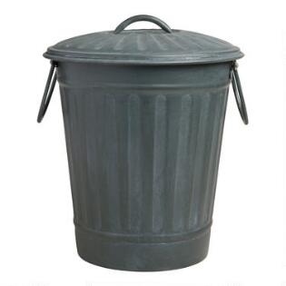 Old Metal Garbage Cans Royalty Stock Photos
