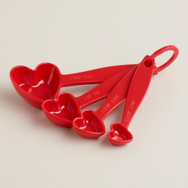 Red Heart Melamine Measuring Spoons