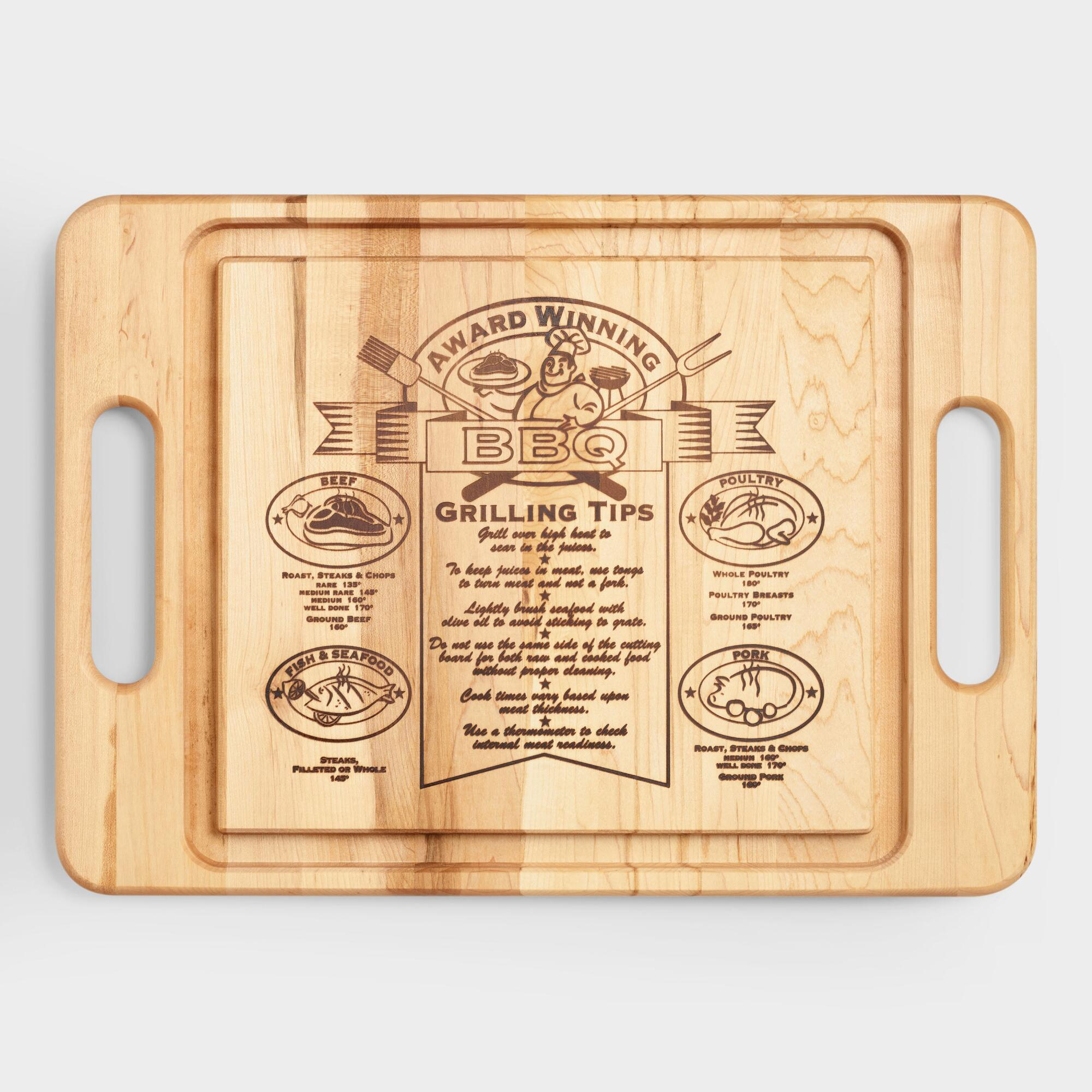 Maple Wood Barbecue Trencher Cutting Board by World Market