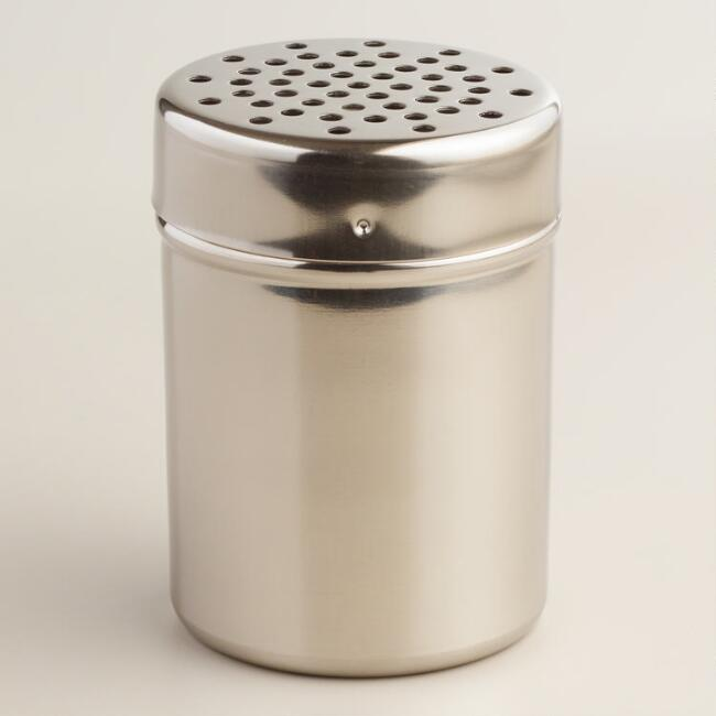 Stainless Steel Large Hole Shakers, Set of 2