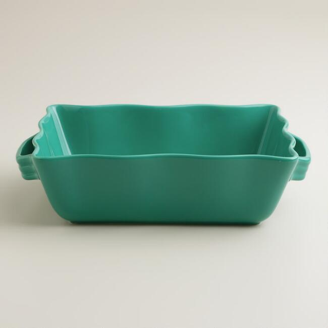 Medium Lagoon Blue Ceramic Baker