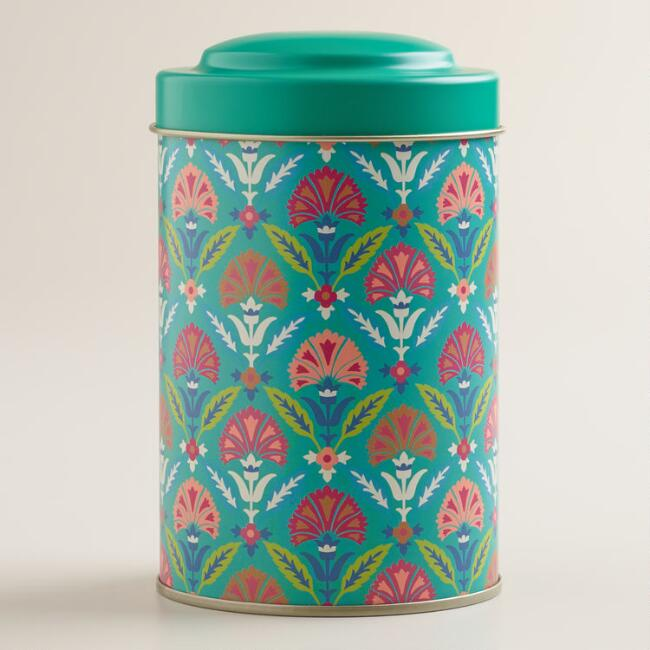 Lagoon Blue Samantha Tea Tins, Set of 4