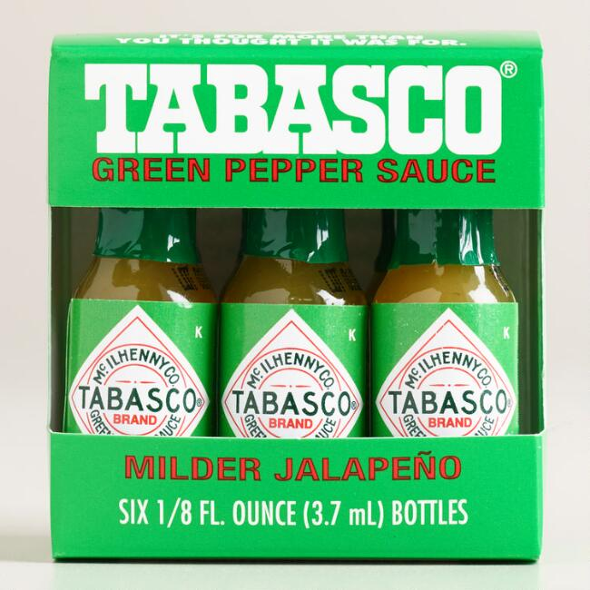 Tabasco Mini Green Pepper Sauces, 6-Pack