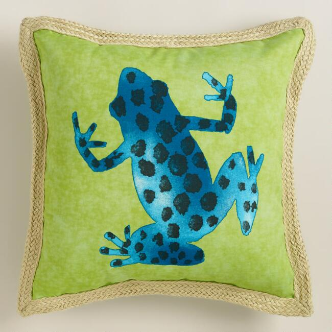 Spotted Frog Outdoor Throw Pillow