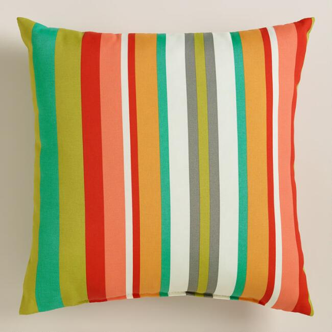 Capri Stripe Outdoor Throw Pillow