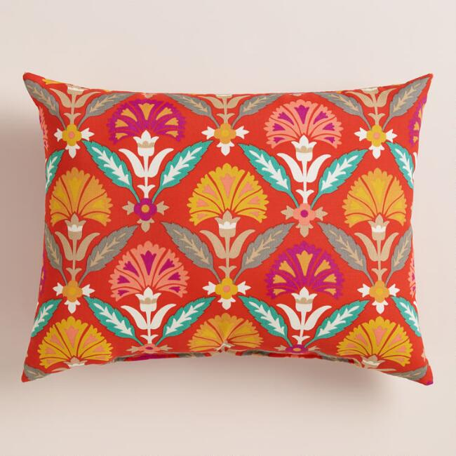 Floral Samantha Outdoor Lumbar Pillow