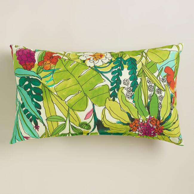 Fiji Foliage Outdoor Lumbar Pillow