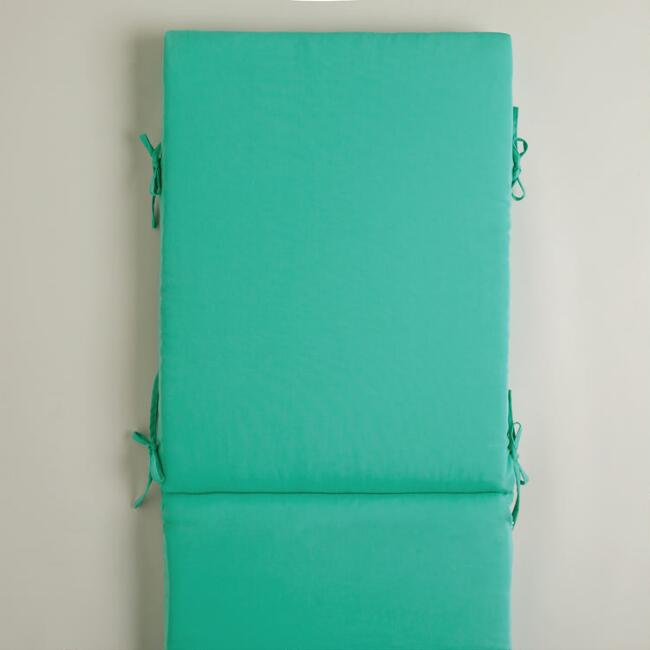 Aqua Chaise Lounger Cushion