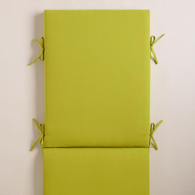 Green Chaise Lounger Cushion