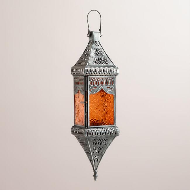 Small Orange Square Hanging Lantern