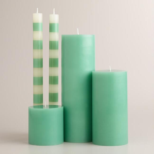 Blue Unscented Candle Collection
