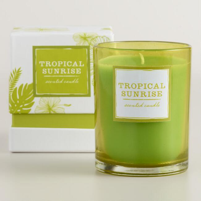 Tropical Sunrise Boxed Tumbler Candle