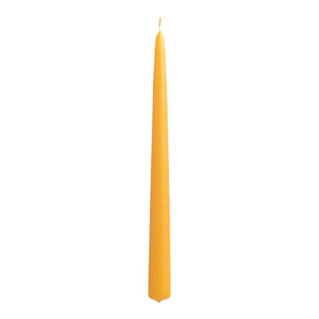 Ocre Yellow Taper Candles, Set of 2