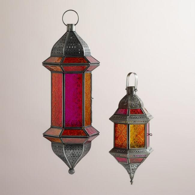 Warm Multicolor Hanging Lantern
