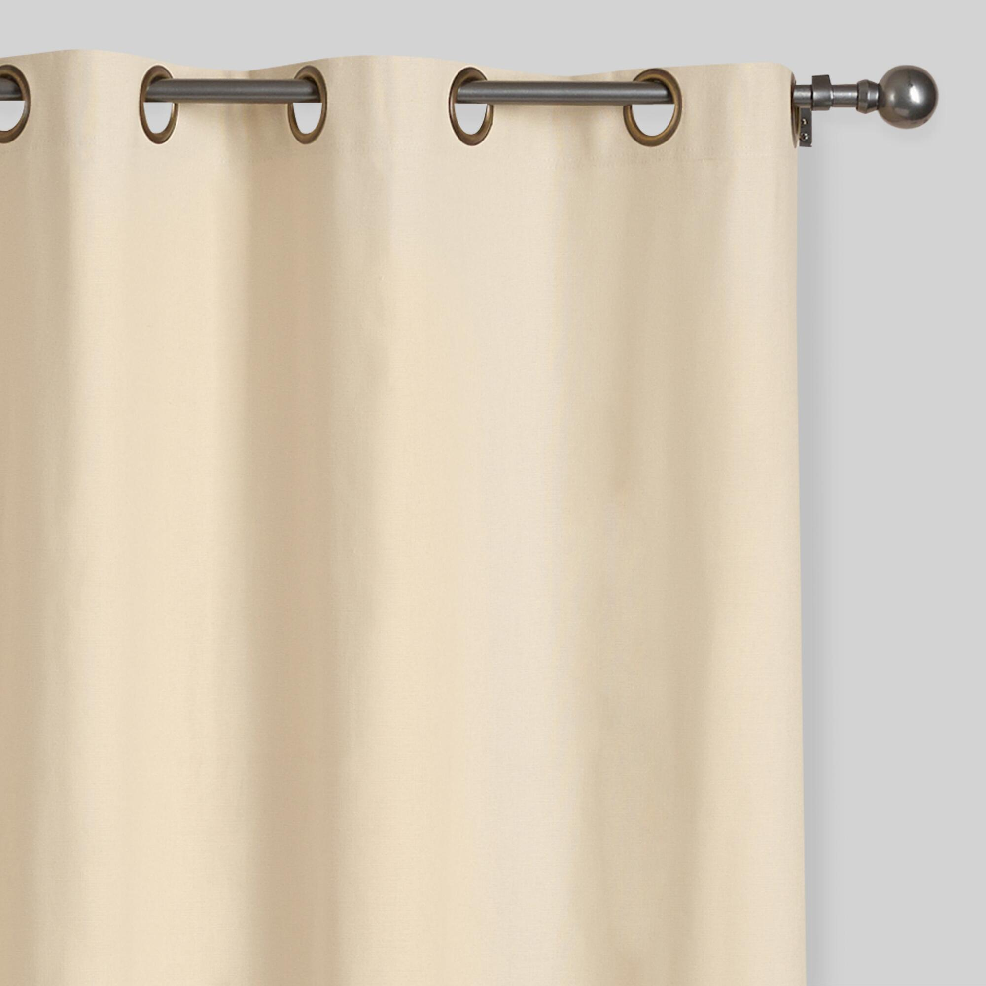 Threshold linen grommet sheer curtain panel product details page - Natural Parker Grommet Top Curtains Set Of 2