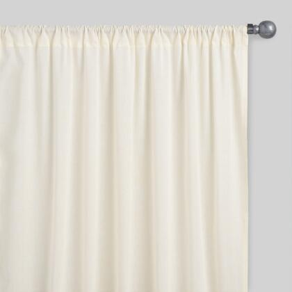Beige Sleeve Top Cotton Sheer Voile Curtains Set