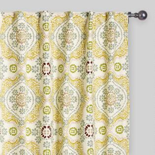 Curtains drapes window treatments world market multicolor mosaic concealed tab top curtains set of 2 gumiabroncs Choice Image