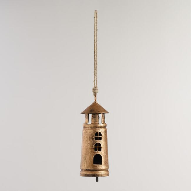 Metal Lighthouse Wind Chime