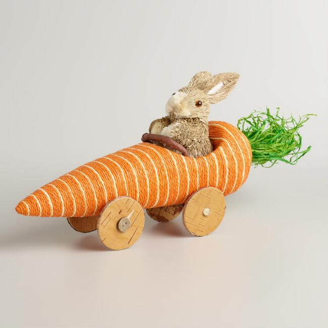 Easter Bunny Reese S Egg Cars: Natural Fiber Bunny In A Carrot Car