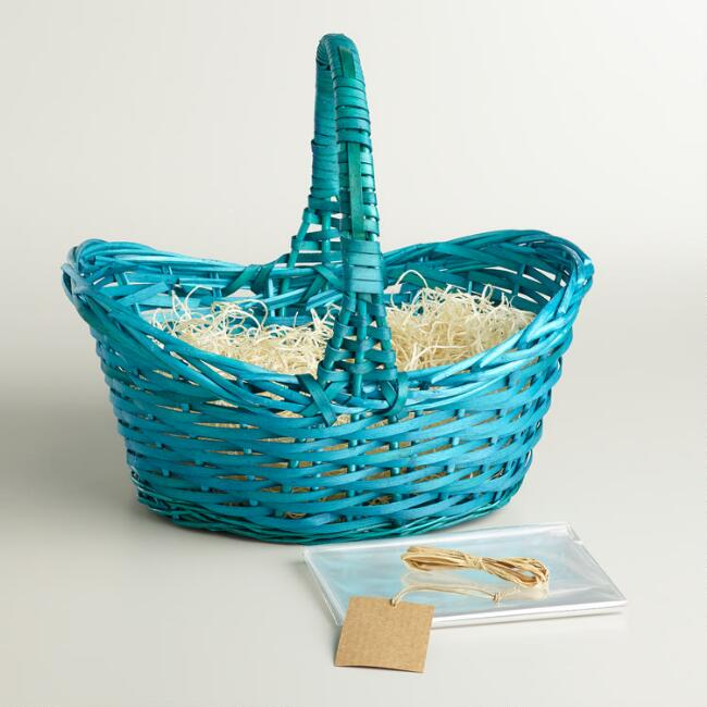 Turquoise Blue Easter Basket Kit