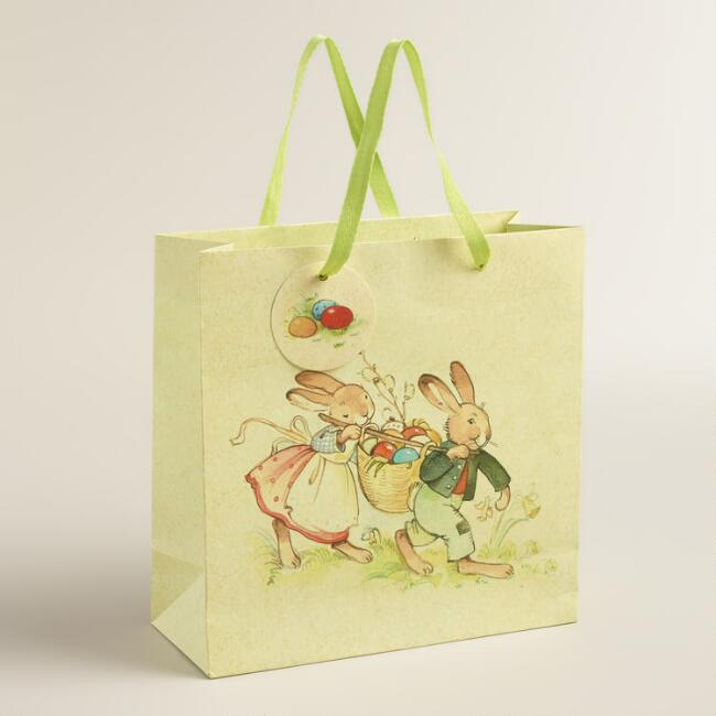 Medium Vintage Bunnies Gift Bag, Set of 2