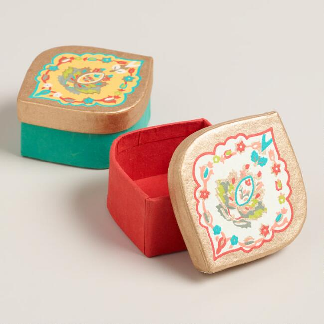 Small Bettina Medallion Gift Boxes, Set of 2
