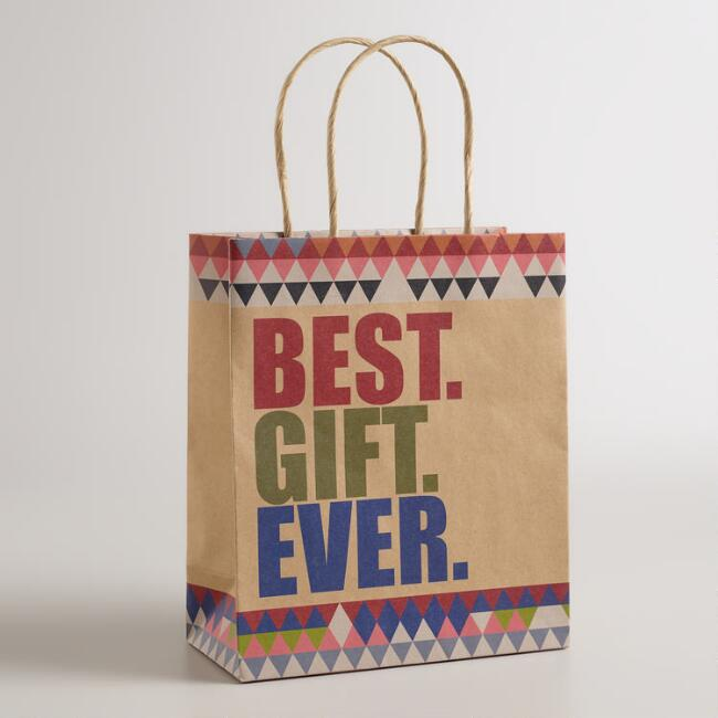 Medium Best Gift Ever Kraft Gift Bags, Set of 2