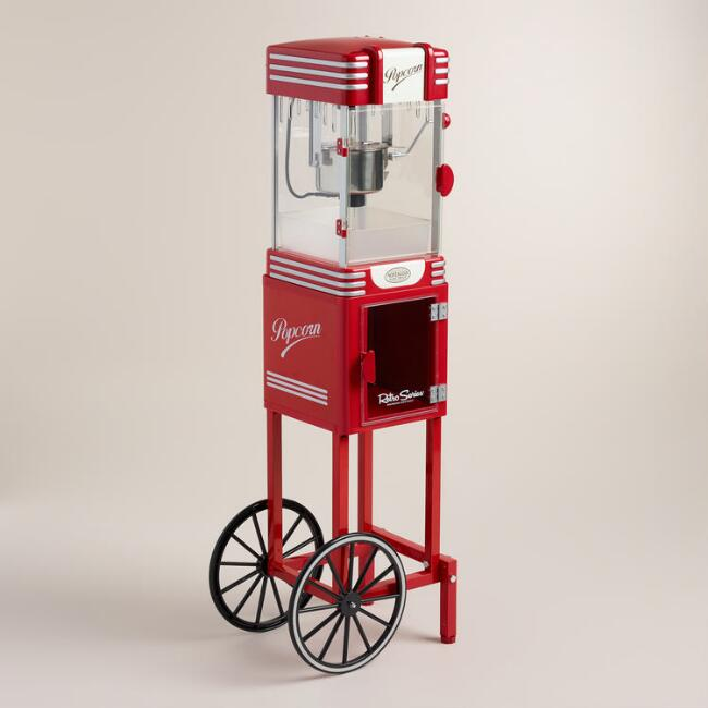 Retro Kettle Popcorn Maker Cart