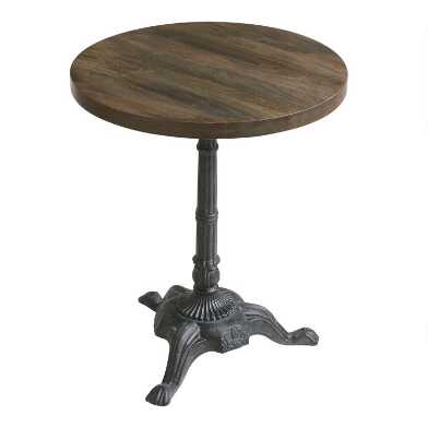 Metal and Wood Bistro Accent Table