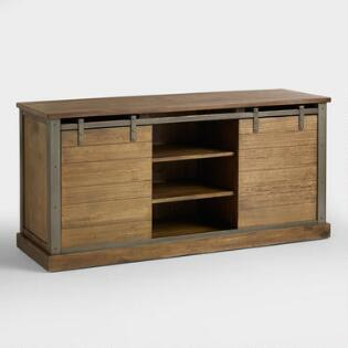 Tv stands media console cabinets world market for Tv media storage cabinet