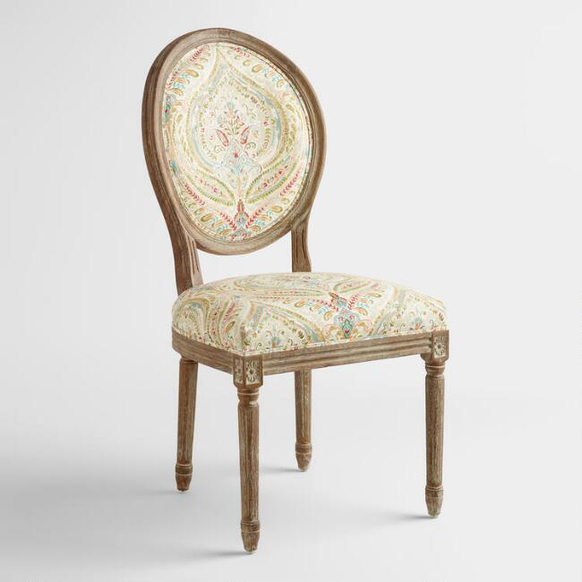 Ogee Paisley Paige Round Back Dining Chairs, Set of 2