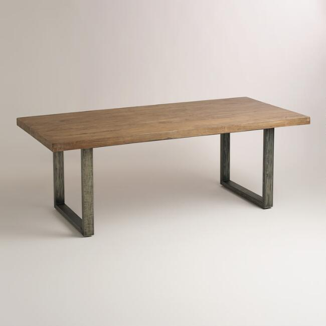 Wood and Metal Edgar Dining Table