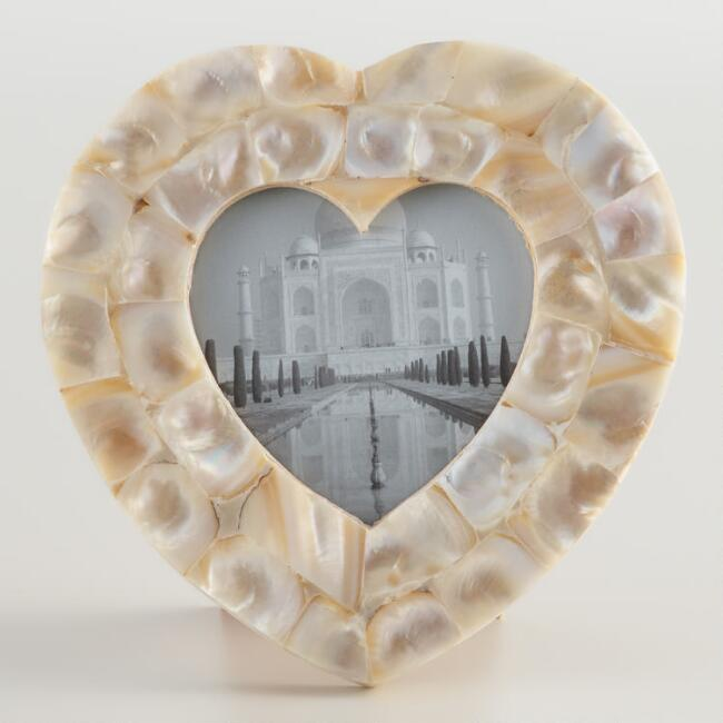 Mother of Pearl Heart Frame