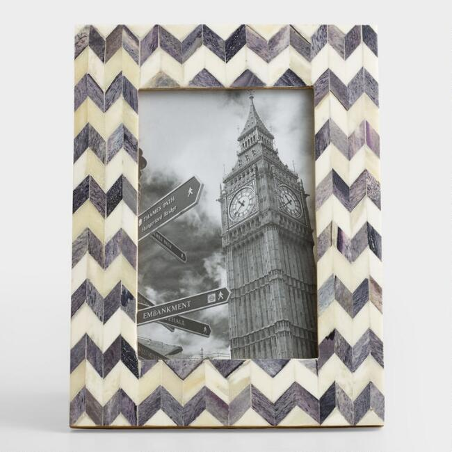 Gray Zigzag Bone Frame