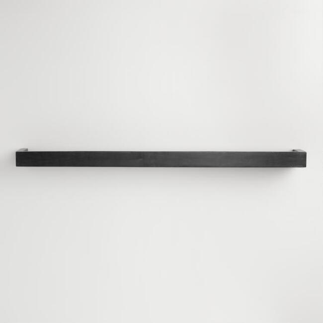 Large Black Caden Wall Shelf