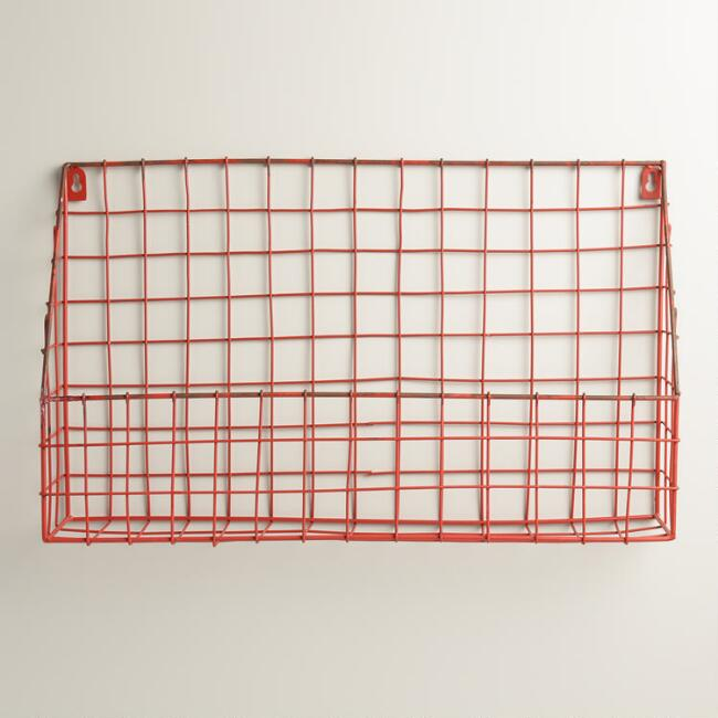 Red Braedyn Wire Wall Storage