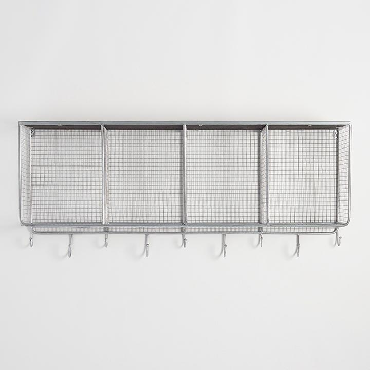 Metal and Wood Braedyn Wall Storage: Silver by World Market