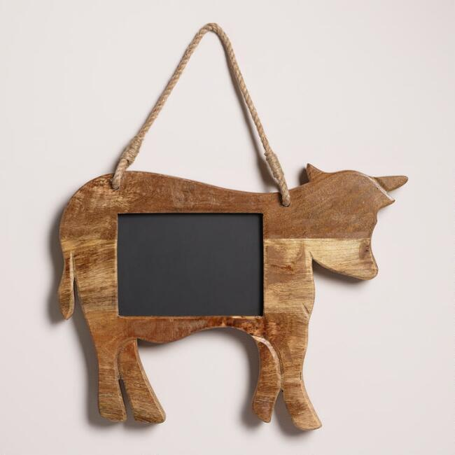 Wood Cow Chalkboard