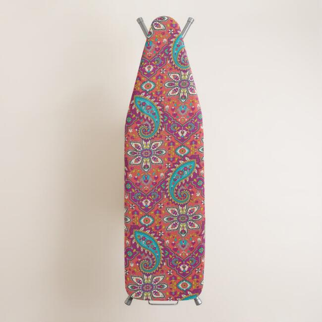 Coral Phoebe Ironing Board Cover